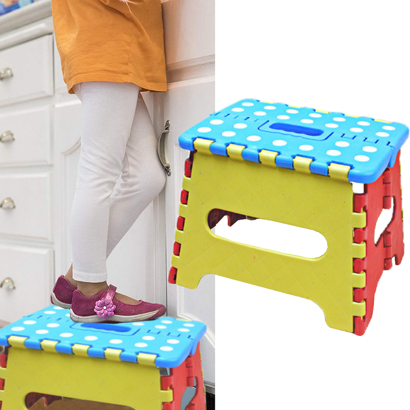 New2019 Safe Practical Solid Convenient Portable Thick Plastic Kids Folding Stool Outdoor Activity Tool Home Traveling Necessity