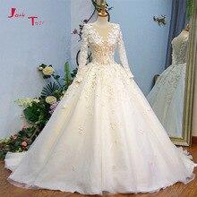 Jark Tozr 2019 Abiti Da Sposa Long Sleeve Wedding Dresses