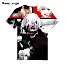 Anime 3D Tokyo Ghoul t shirts fitness fashion skinny cool T-shirt