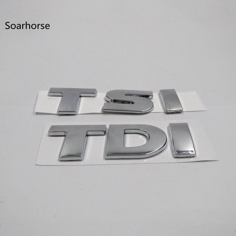Soarhorse car sticker For VW Volkswagen Touareg TDI TSI Rear Trunk Logo Emblem Decal car rear trunk security shield cargo cover for volkswagen vw touran 2016 2017 2018 high qualit auto accessories