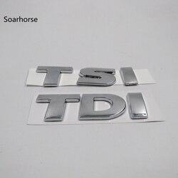 Soarhorse xe sticker Đối Với VW Volkswagen Touareg TDI TSI Rear Trunk Logo Emblem Decal