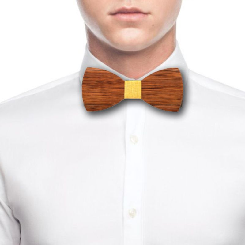 Men High Quality Wooden Bow Ties Classic Business Butterfly Solid Wood Bow Tie