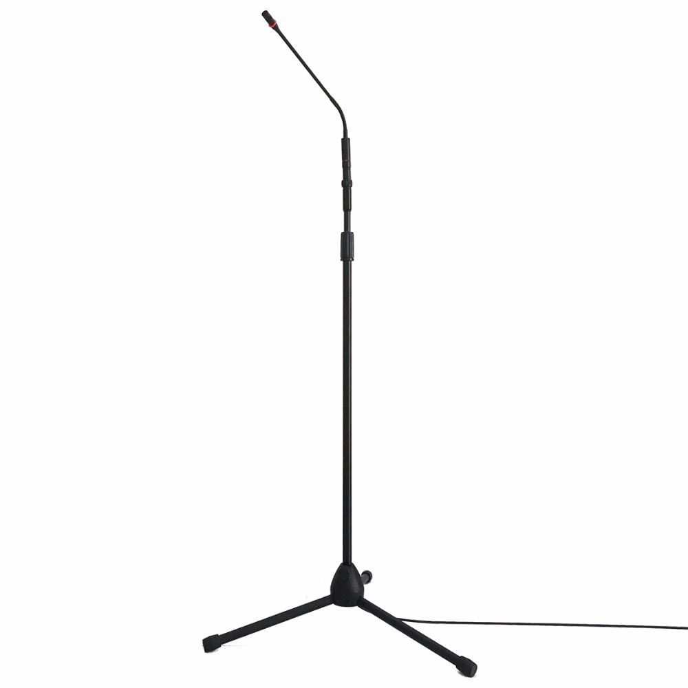 Professional Recording Sound Wired Condenser Lecture Microphone with black MIC stand Laptop microphone XLR cable Recording