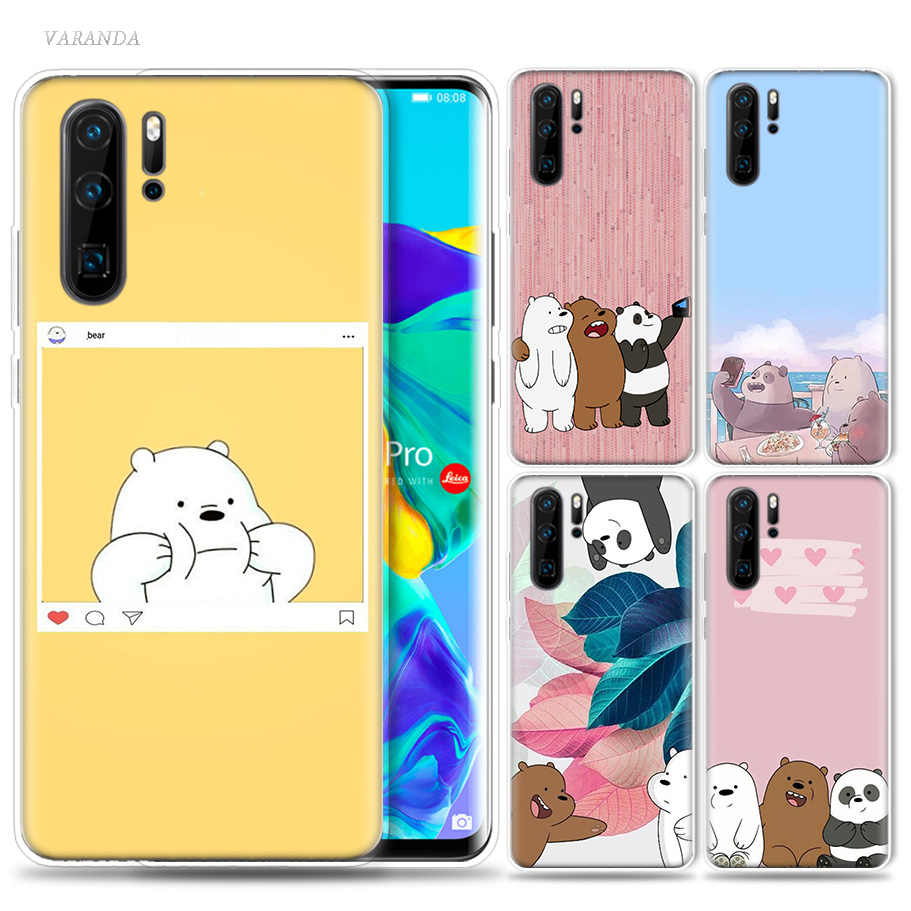 We Ice Bare Bears Case for Huawei P20 P30 P Smart Z Plus Nova 5 5i P10 P9 Mate 10 20 lite Pro Silicone Luxury Phone Bags Capa