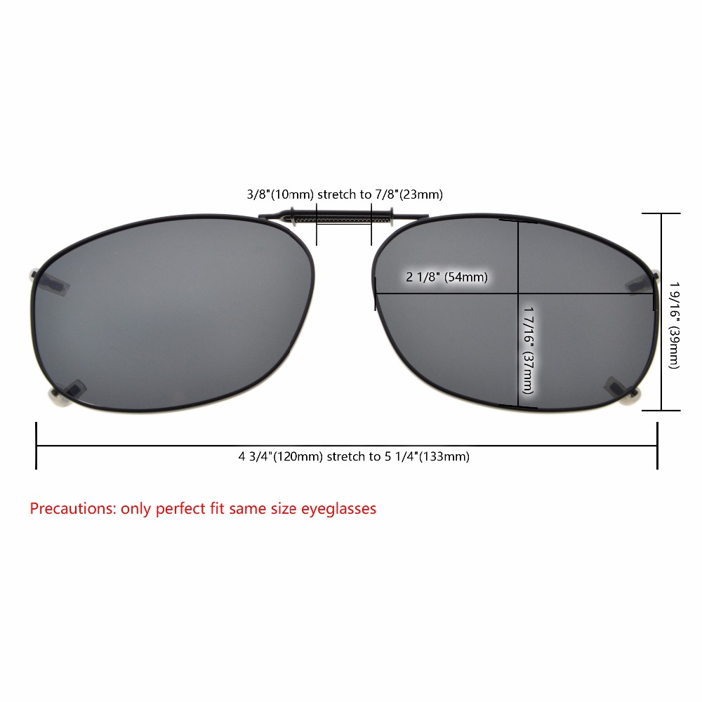 fc88aec8d8e C67 Mix Eyekepper Grey Brown G15 Lens 3 pack Clip on Polarized Sunglasses  54 37MM -in Sunglasses from Apparel Accessories on Aliexpress.com