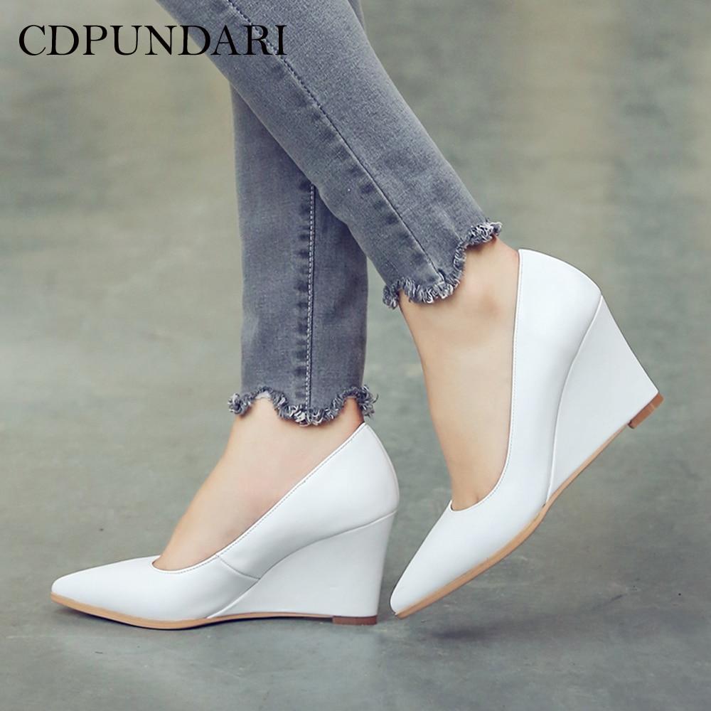 CDPUNDARI Genuine Leather high heels women Pumps sh