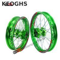 Keoghs Dirt Bike Motorcycle Wheel Rim/hub Front And Rear 12/14/17 Inches Cnc Aluminum Hub For Crf Bbr Kawasaki