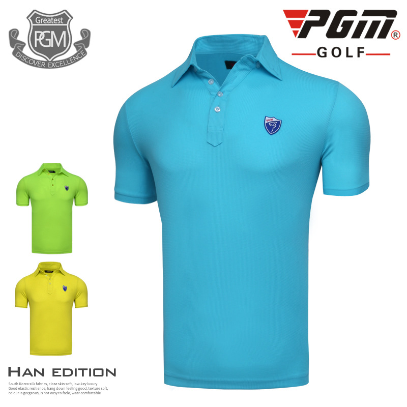 PGM Golf T-shirts Polo For Mens White Cotton Breathable Summer Sports Golf Polo Shirts Brand Golf Clothing Men Free Shipping
