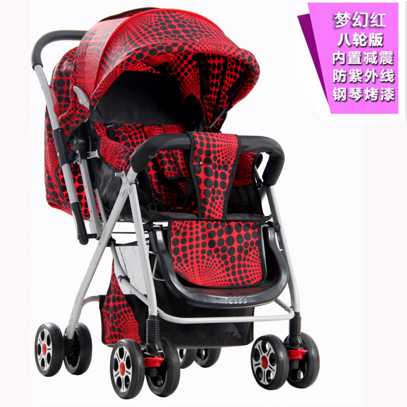 High landscape baby stroller summer sitting down suspension reversing four wheel folding baby baby cart cochecitos de bebe