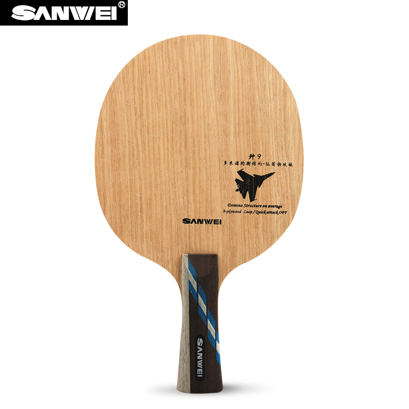 Sanwei J-9 (J9, 9 Ply Even Wood, Loop & Fast Attack, OFF) Table Tennis Blade Racket Ping Pong Bat Paddle