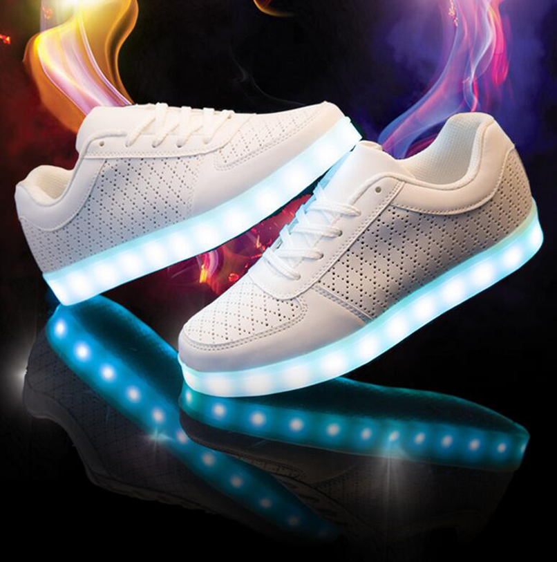 and led shoes casual shoes black and