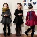 2016 nuevo invierno Niñas Niños terciopelo Engrosamiento de manga larga vestido de princesa cómodo lindo bebé Ropa Niños Ropa 10 W