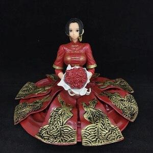 Один кусок Боа Хэнкок фигурку 1:6 10 см Окрашенные фигуры Блеск & гламурный кимоно Ver. Хэнкок ПВХ фигурка игрушки Brinquedos