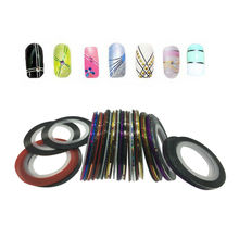 10Pcs Mix Multi-colors Rolls Striping Tape Line Nail Art Decoration Sticker  nail  diy For Nail