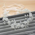 BH37 Beautiful Beaded Pearls Flower Wedding Hair Accessories 2015 Bridal Headpiece Free Shipping