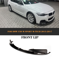 3 Series Carbon Fiber Front Lip Auto Car Bumper Protecter With splitters For BMW F30 M Sport Sedan 4 Door 12 17 Non Standard