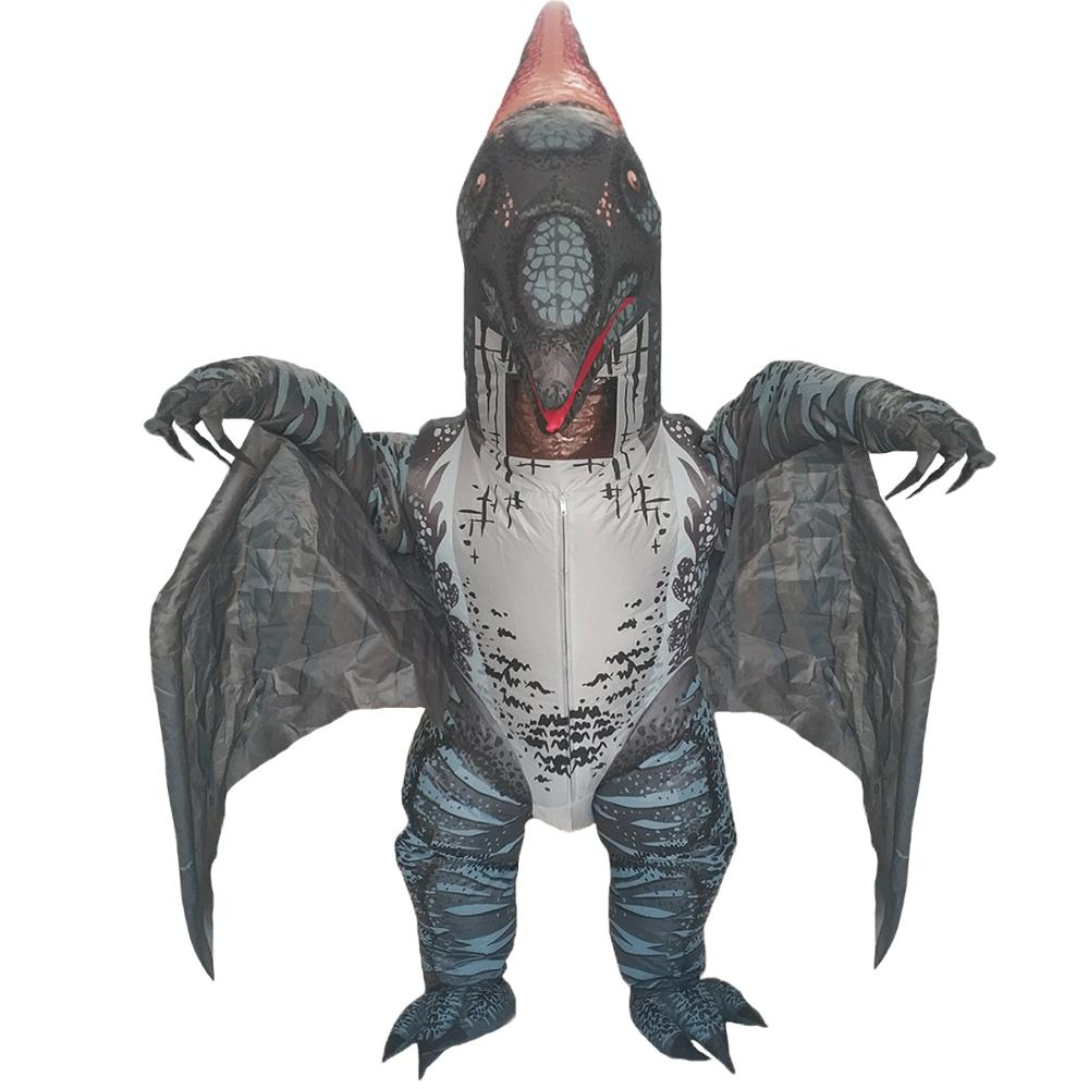 Dinosaur Inflatable Costume For Adults Pterosaur Halloween Cosplay Party Fancy Dress Men Women Birthday Blow Up Outfits