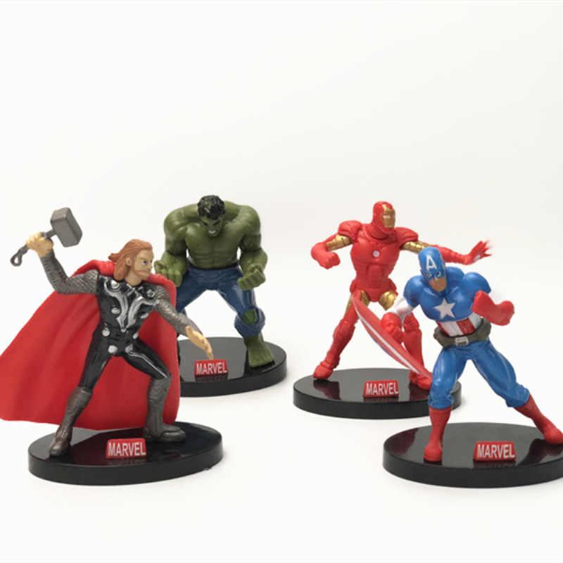Marvel Super герои Мстители эндшпиль фигурку Бэтмен Халк Железный человек Америка Модель аниме игрушки для детей
