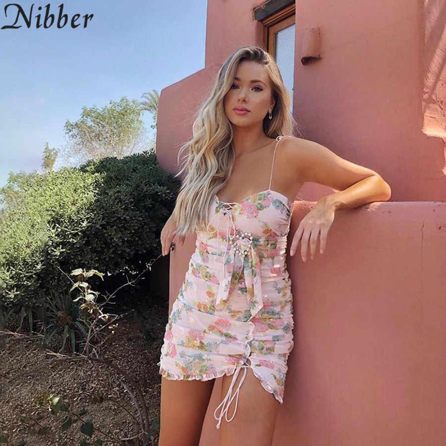 2019 летнее богемное элегантное пляжное Клубное облегающее платье женские вечерние мини-платья с цветочным принтом женские богемные сексуальные кружевные повседневные платья