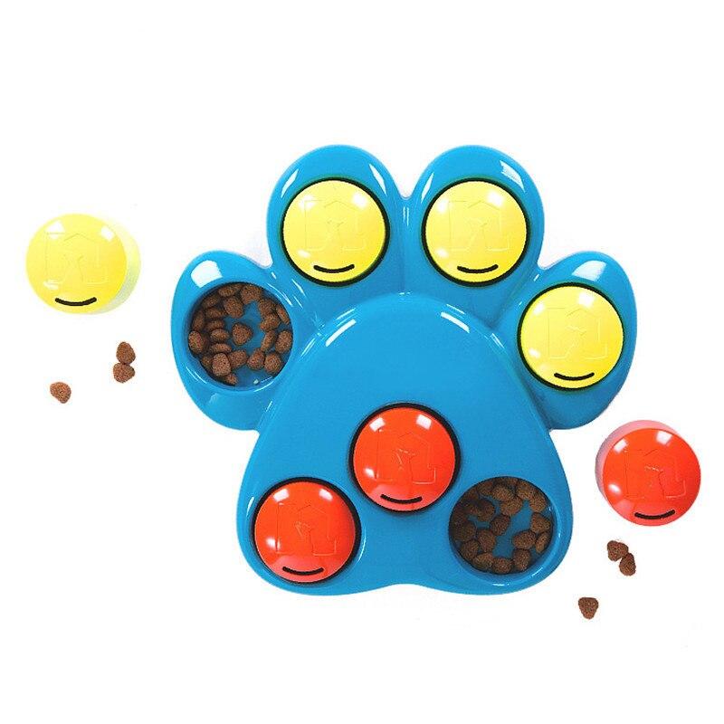 Chien interactif chien bébé ABS bleu jouets empreinte Pet chien formation jouets rouleau patte Puzzle ralentissement-manger chiens animaux jouet chien