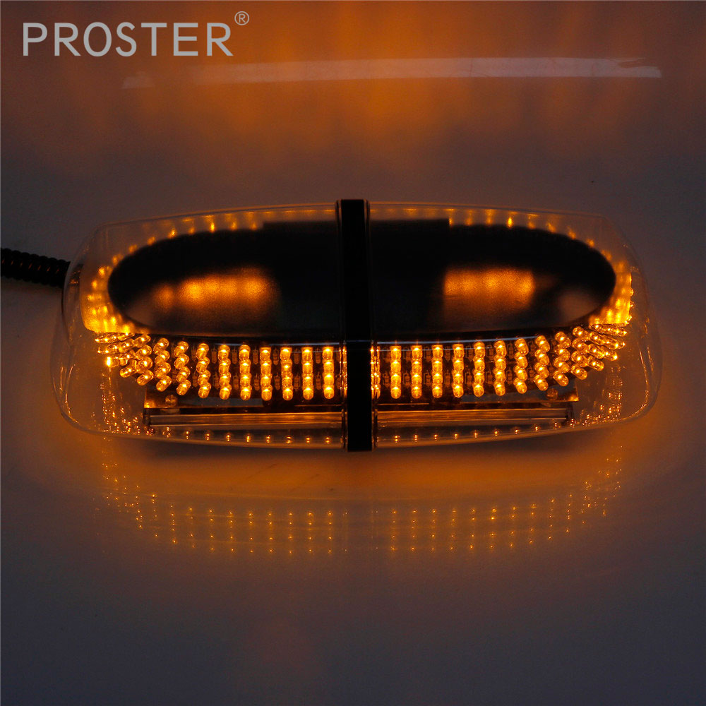 Amber Yellow 240 LED Magnetic Base Car Roof Flashing 7 Modes Flashing Strobe Emergency Light 240LED Police Beacons Warning Mini