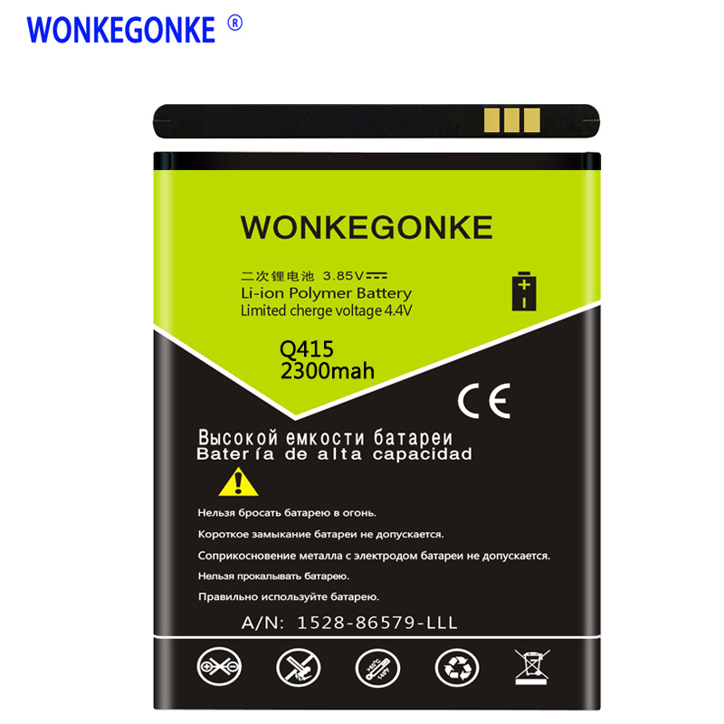 WONKEGONKE for Micromax Q415 Battery High quality mobile phone battery with tracking number