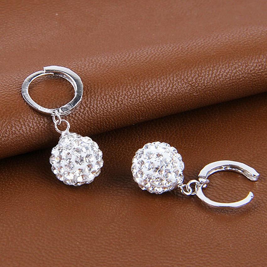 Pani Shambhala luksusowe kryształowe kolczyki w kształcie łezki - Modna biżuteria - Zdjęcie 3