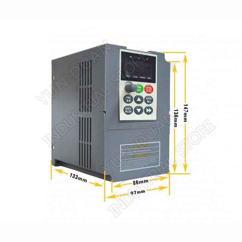 Universal Frequency Converter CE 3HP 2.2KW Vector VFD 220V 9.6A Single Phase Input to 3 Phase Output for Router Spindle MotorUniversal Frequency Converter CE 3HP 2.2KW Vector VFD 220V 9.6A Single Phase Input to 3 Phase Output for Router Spindle Motor