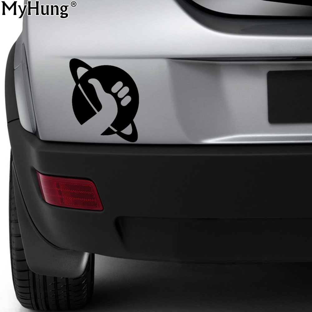 23 1cm15cm hitchhikers guide to the galaxy car cartoon sticker window stickers and decals decoration vinyl bumper car styling
