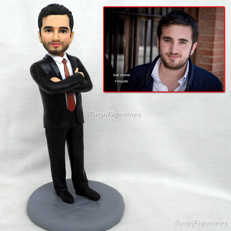 custom businessman figure polymer clay miniature artifact chrismas new year valentine's gift for girlfriend boyfriend lovers