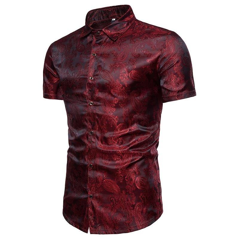يجب تزيين 2018 أزياء الصيف قميص الرجل - ملابس رجالية