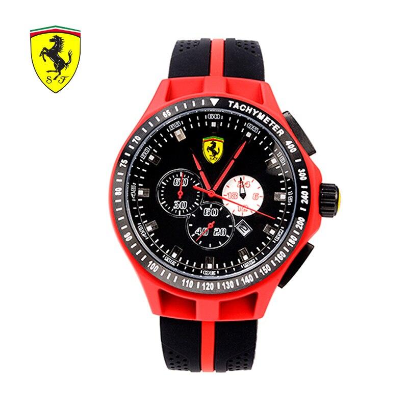 SCUDERIA FERRARI Brands 2018 Charming New Casual Watch Men Sports Fashion Waterproof Red Black Male Quartz Wristwatches 8076511