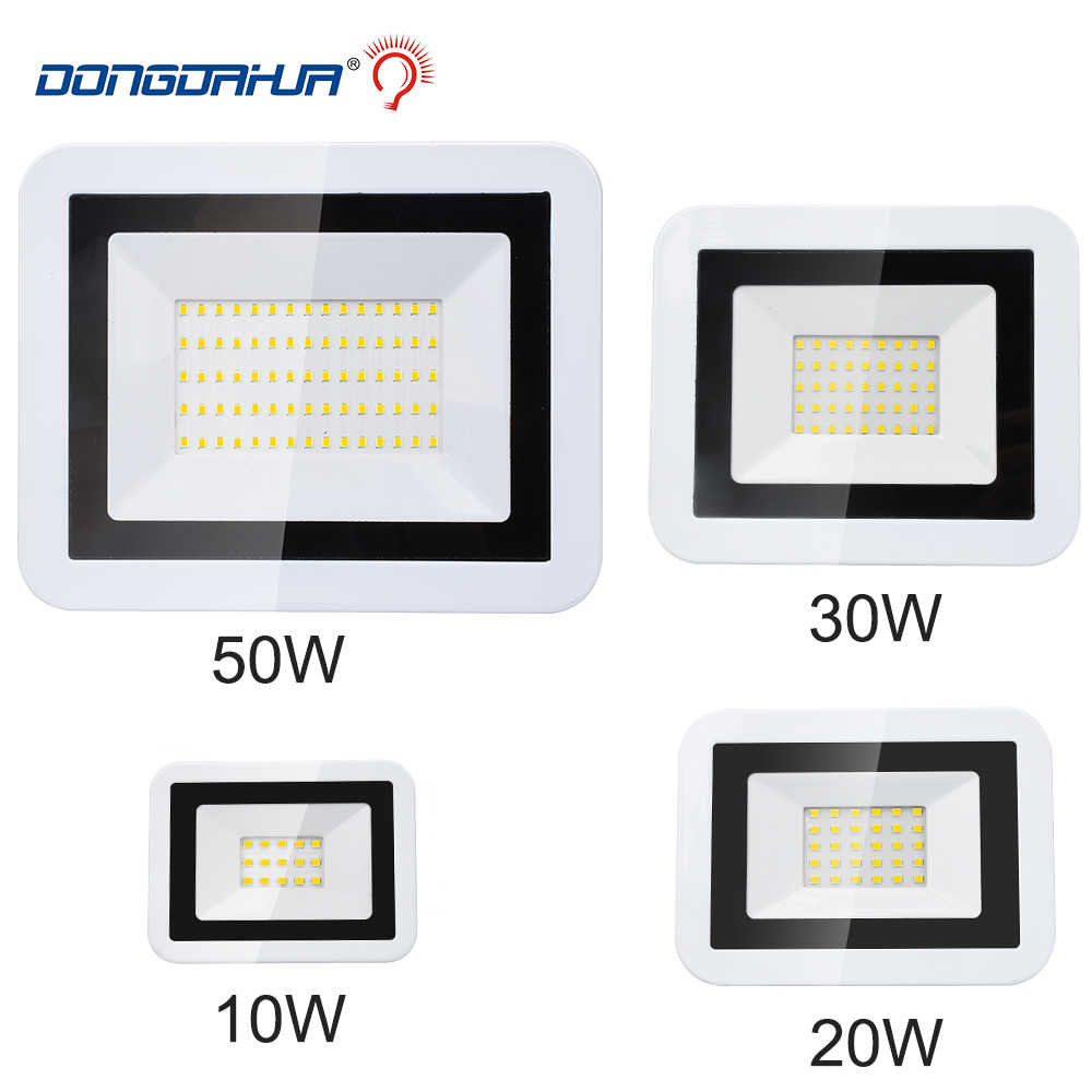 Waterproof LED Flood Light 10w 20w 30w 50w IP66 Floodlight Lamp Reflector 220v Spotlight Outdoor Garden Light Exterior Lighting
