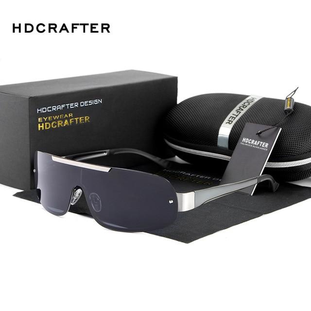 HDCRAFTER Luxury retro Sport fashion Polarized Sunglasses Men rimless sun glasses men's sunglasses designer glasses for men E010