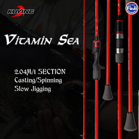 KUYING VITAMIN SEA Single 1 Section 2 04m Carbon Spinning Casting Lure Slow Jigging Fishing Rod