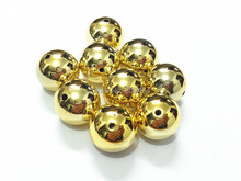 Wholesale ! 20MM 100pcs/lot  Gold  Acrylic UV  Plated Beads For Kids Necklace Making Free Shipment !