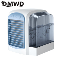 DMWD Mini Air Conditioner Portable Water cooling fan Humidifier Purifier Desktop Air Cooler Fan with Night Light for Office Home