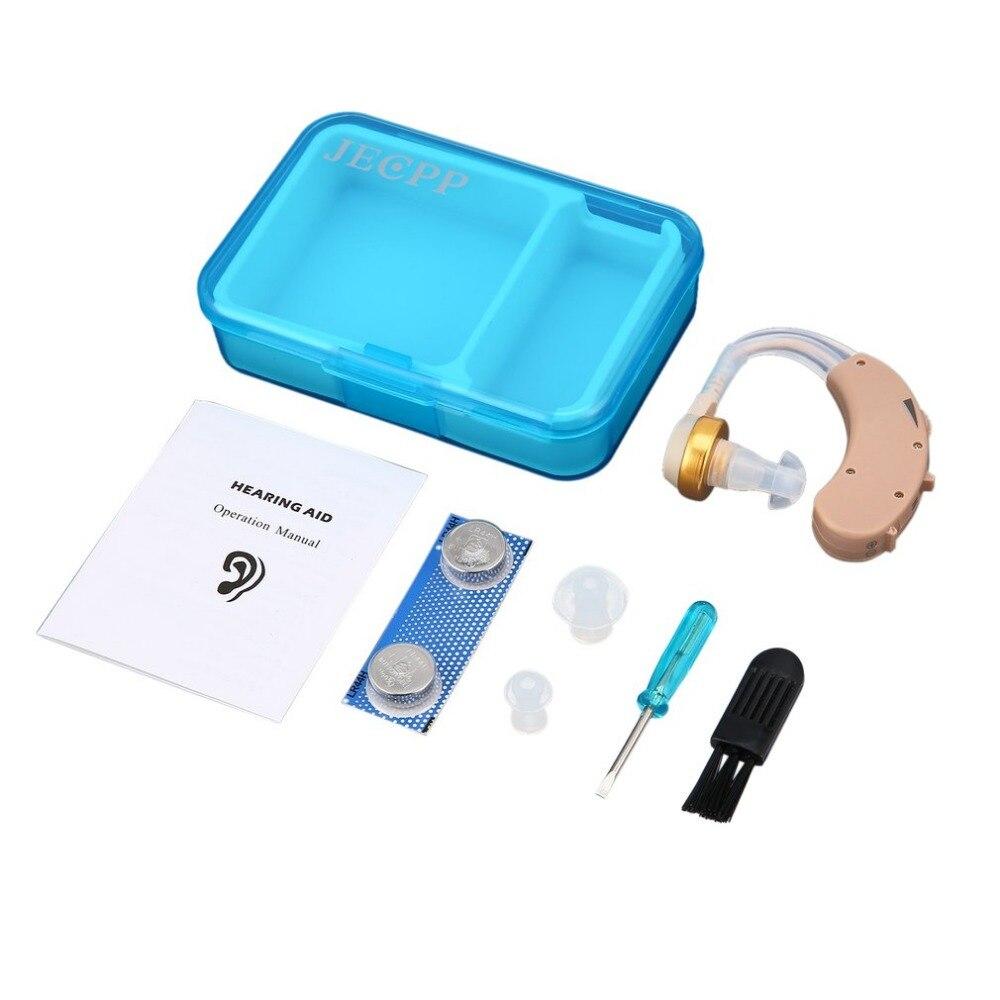 Mini audífonos sonido de voz amplificador de audífono de detrás de la oreja de atención ajustable sonido potenciador para las personas de edad avanzada oír ayuda