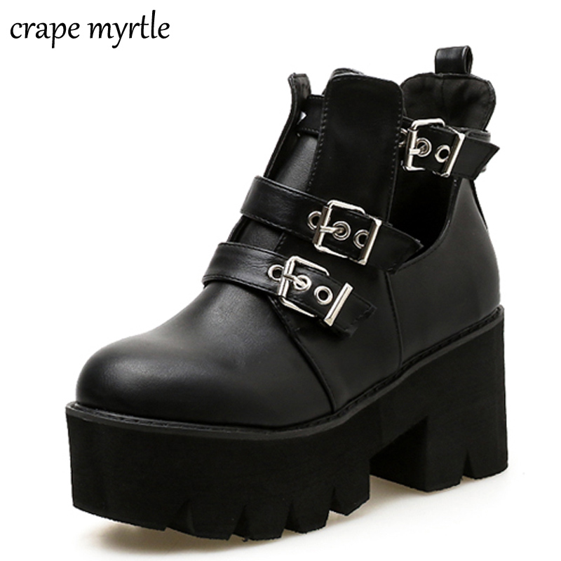 motorcycle boots women 2019 Thick Heel Ankle Boots Women High Heels Autumn boots Woman Shoes black boots platform shoes YMA440 lace up boots 2018 fashion thick heel ankle boots women high heels autumn winter woman shoes black boots platform shoes yma62