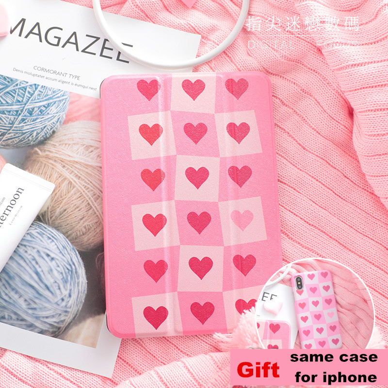 Square Heart Magnet PU Leather Case Flip Cover For iPad Pro 9.7 10.5 Air Air2 Mini 1 2 3 4 Tablet Case For New ipad 9.7 2017 personal magnet pu leather case flip cover for ipad pro 9 7 10 5 air air2 mini 1 2 3 4 tablet case for new ipad 9 7 2017 a1822