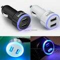 (2 cores) auréola LEVOU 2A Dual USB Car Charger adaptador de isqueiro encendedor coche de Carregador de carga rápida da bateria Uma