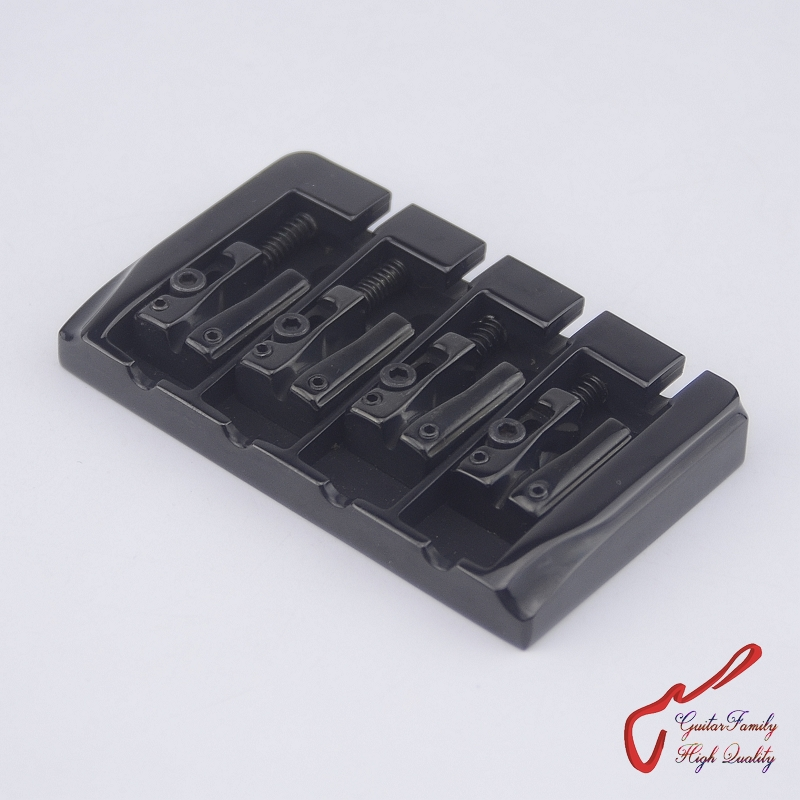 1 Set High Quality  GuitarFamily BB404  Bass Bridge For 4 Strings Electric Bass  Black   MADE IN KOREA