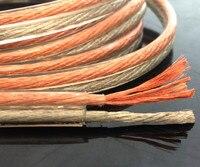 Бесплатная Доставка 5 м/лот 400 основной профессиональный RCA кабель из бескислородной меди акустика провода золотой и серебряной проволоки рога кабеля аудио кабель