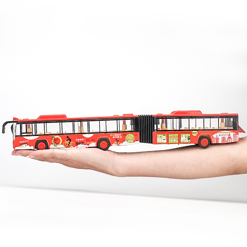 High Simulation Double Bus,1:50 Scale Alloy Pull Back Double Bus,Sound And Light Toy Car,free Shipping