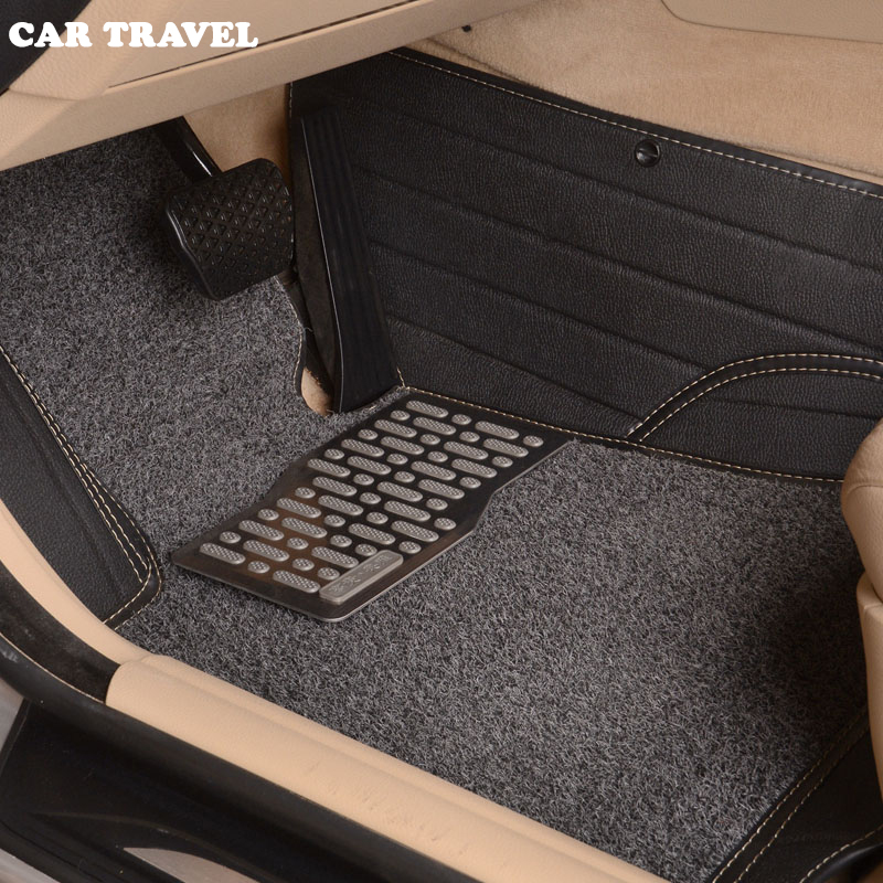 Custom car floor mats for Jaguar All Models XF XE XJ F-PACE F-TYPE brand firm soft car accessorie car styling auto floor mat piano black car side fender cover trim 3d sticker for jaguar xe f pace xf xfl 2016 f pace car styling accessories