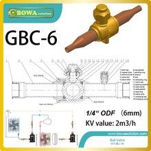 """1/"""" шаровой клапан имеет широкий температурный диапазон в одинаковой степени применимый для замораживания, охлаждения и кондиционирования воздуха"""