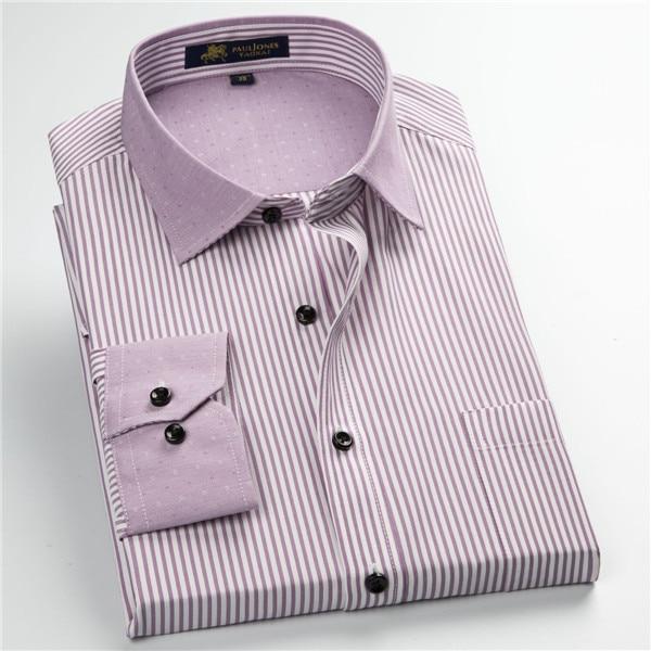 Pauljones 57xx дешевый воротник дизайн с длинными рукавами для мужчин s полосатые рубашки Повседневное платье Мужская рубашка в клетку Высококачественная Мужская одежда - Цвет: 5735