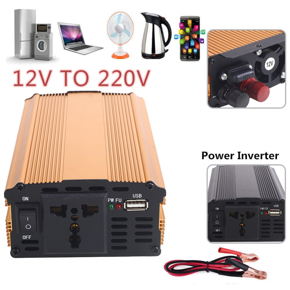 2018 Power Auto Inverter 12 v 220 v 3000 watt Konverter Transformator DC 12 v Zu AC 220 v Premium auto Inverter Reise Stabile Lkw Fahrzeuge