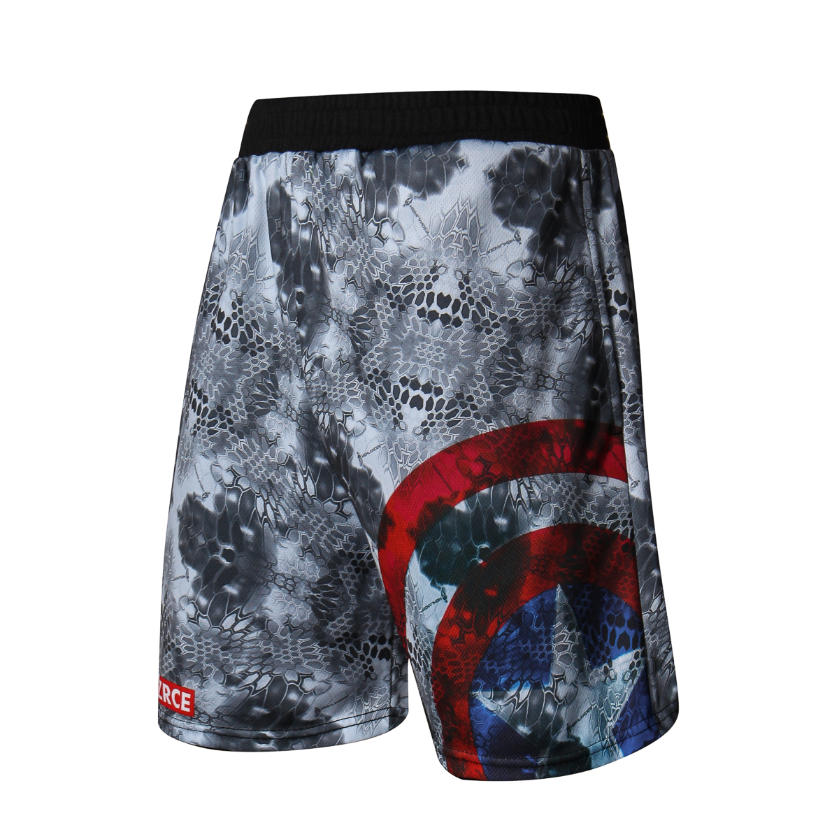 Running Shorts Men Fitness Crossfit Gym Shorts Captain America Sport Shorts Workout Jogging Training Exercise Sweatpants