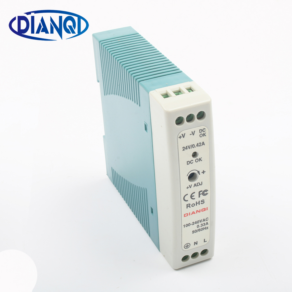 DIANQI MDR-10 12V 5V 15V 24V 36V 48V 10W Din Rail power supply ac-dc driver AC/DC wide constant voltage LED strip 110V 220V